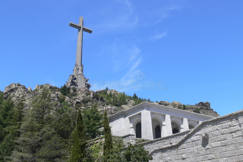 Valley of the Fallen Monument stock photography
