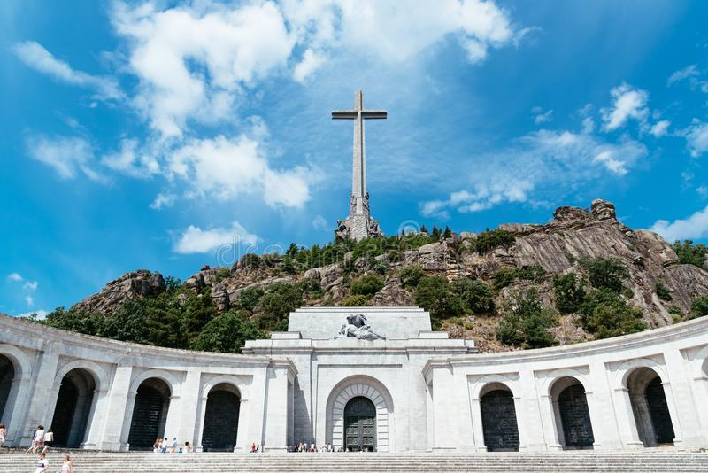 Valley of the Fallen in Spain royalty free stock images