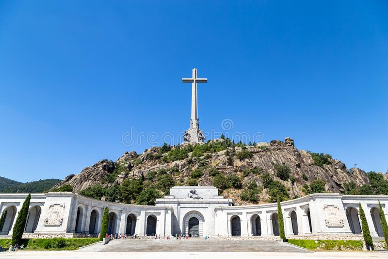 Valley of the Fallen Valle de Los Caidos, the burying place of the Dictator Franco, Madrid, Spain. Valley of the Fallen Valle de Los Caidos, the burying place of royalty free stock photo