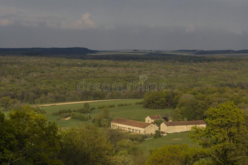 Valley farm Vauquois France royalty free stock photos