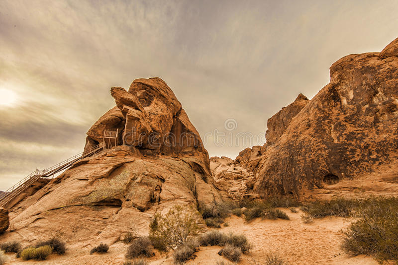 Valley of Fire rock formation royalty free stock photos