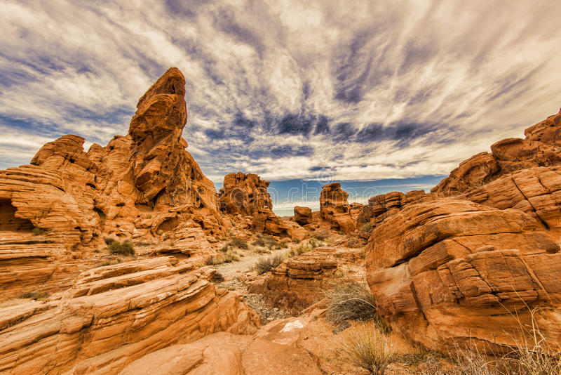 Valley of Fire rock formation stock image