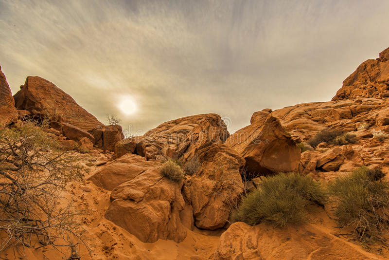 Valley of Fire rock formation stock photography