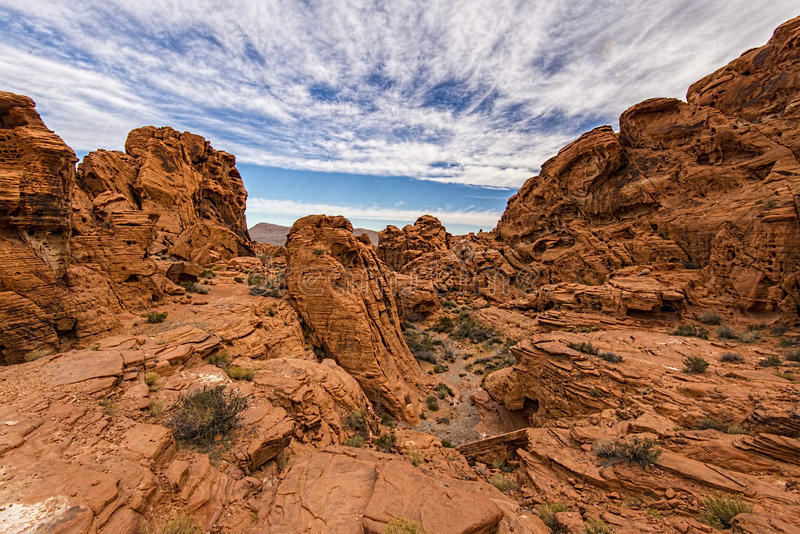 Valley of Fire rock formation stock photos