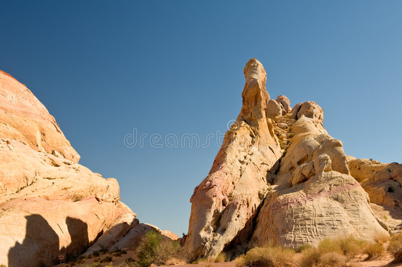 Valley Of Fire Rock Formations Stock Photo