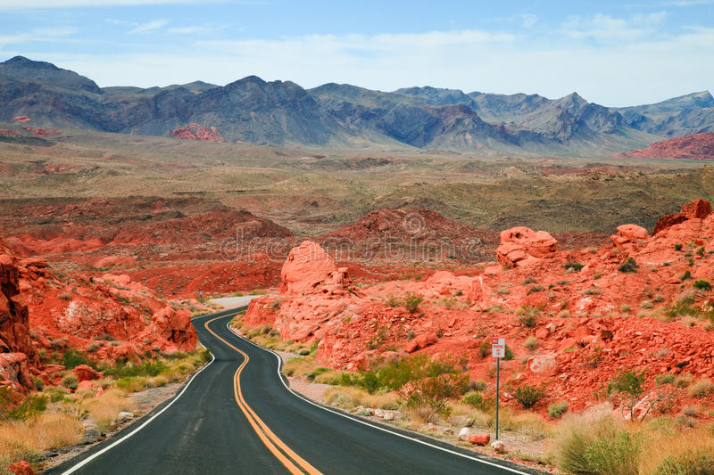 Download Valley Of Fire Scenic Drive Stock Image - Image of nevada, mountain: 17242907