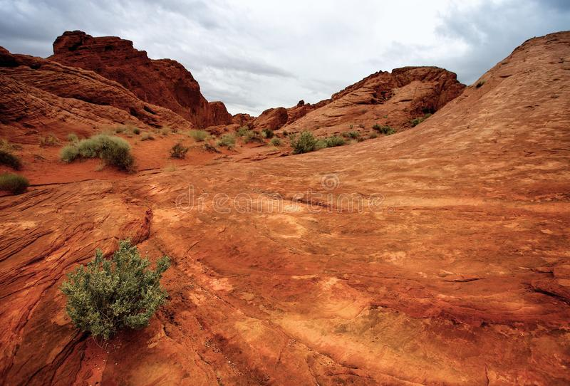 Valley of Fire State Park. Scenic view of red sandstone rock formations in Valley of Fire State Park, Nevada, U.S.A royalty free stock photography
