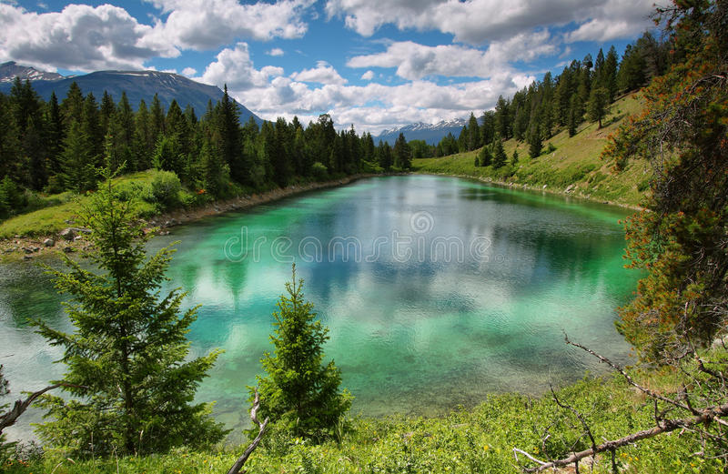 Valley of five lakes panorama stock photography