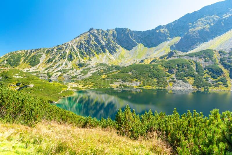 Valley of five ponds in Tatra mountains, Poland. Amazing lake in polish Tatra mountains near Zakopane stock images