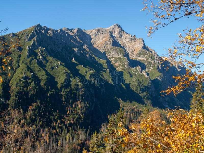Valley of Five Spis Lakes. High Tatra Mountains,. Slovakia stock photo