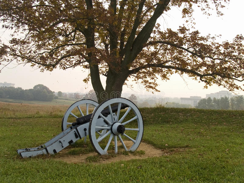 Valley Forge Cannon. A historic revolutionary war cannon on display at Valley Forge National Historic Park royalty free stock photo