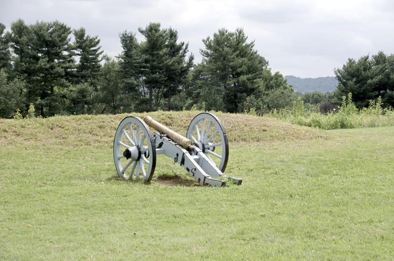 Valley Forge. A cannon in the field at Valley Forge National Historical Park royalty free stock photos