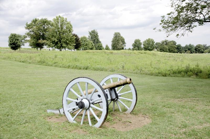 Valley Forge. A cannon in the field at Valley Forge National Historical Park royalty free stock images