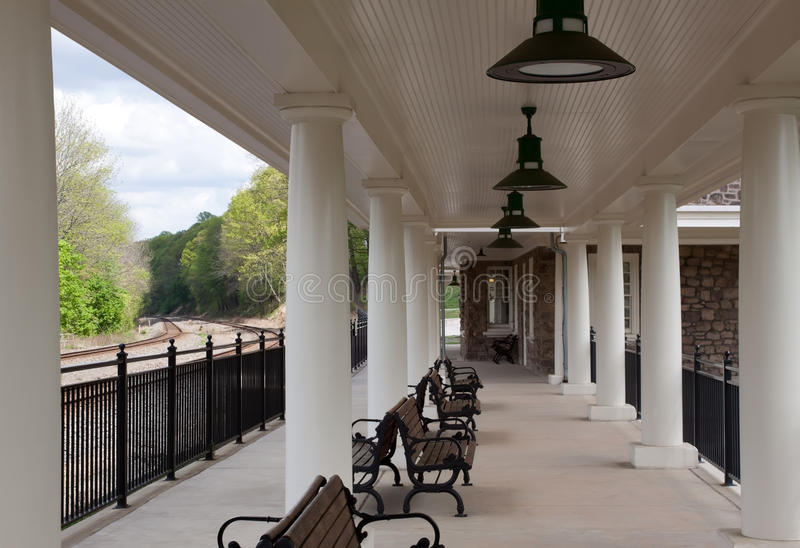 Valley Forge Train Station royalty free stock photos