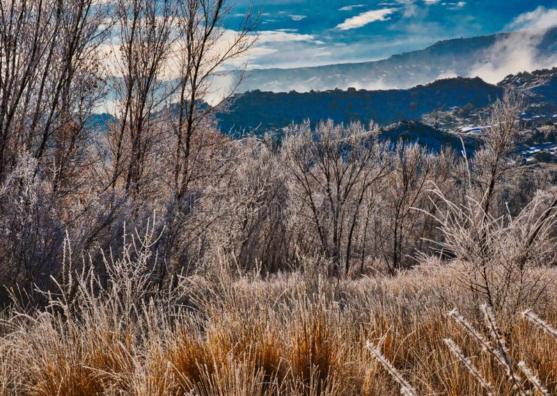 Valley Frost, Mountain Fog stock images