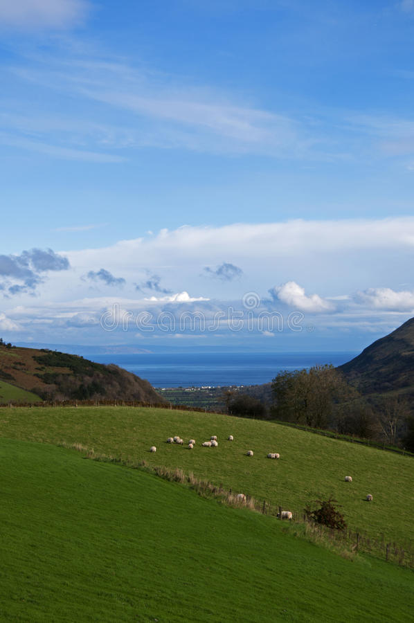 Valley of Glenariff royalty free stock photography