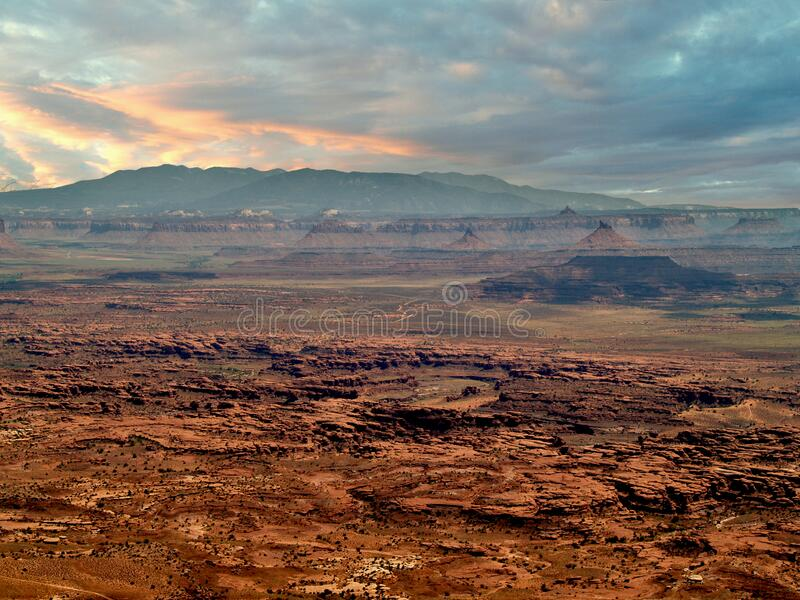 Sunset at Valley of the Gods near Mexican Hat, Utah royalty free stock photos