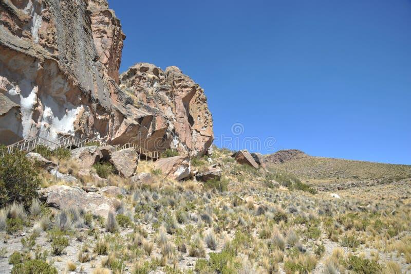 Valley Kala-Kala the city of Oruro. royalty free stock photos