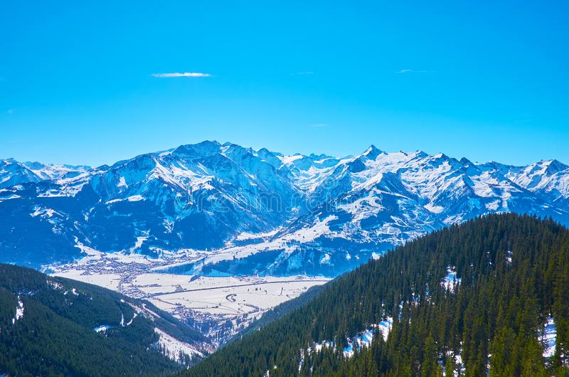 The valley of Kaprun and Kitzsteinhorn mountain, Austria royalty free stock photo