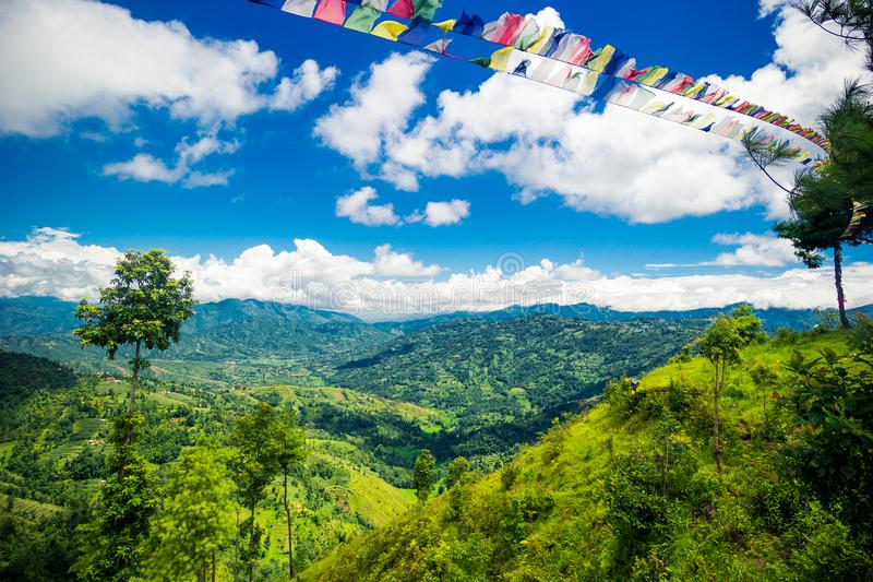 Valley of Kathmandu, Nepal during summer. On a beautiful sunny day stock photos