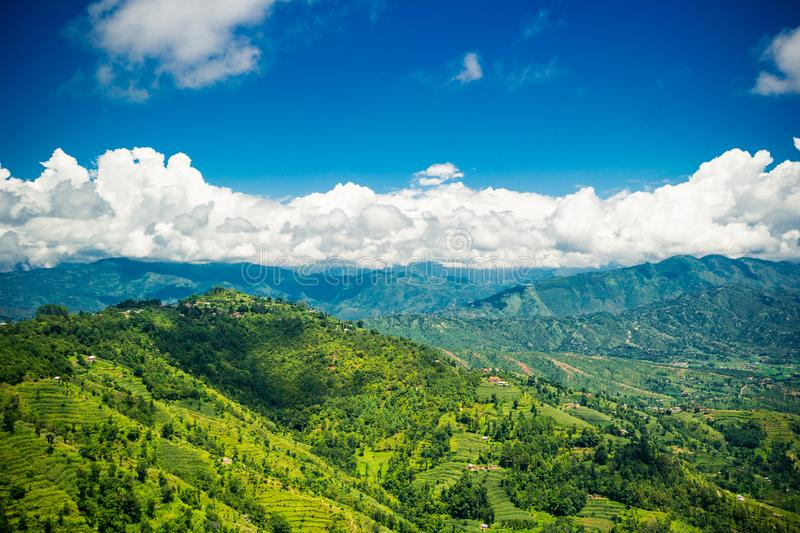 Valley of Kathmandu, Nepal during summer. On a beautiful sunny day royalty free stock photography