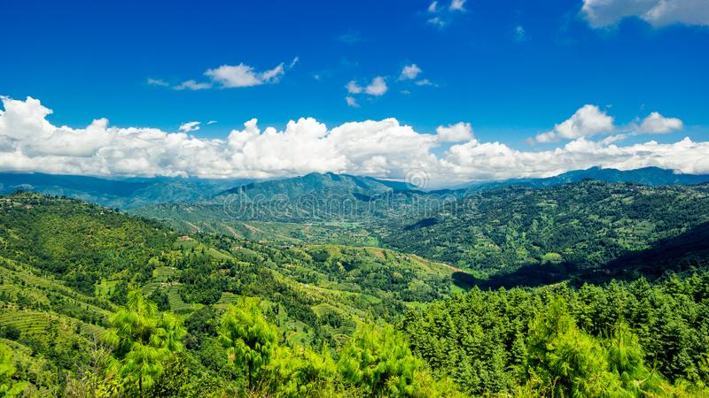 Valley of Kathmandu, Nepal during summer. On a beautiful sunny day royalty free stock photo