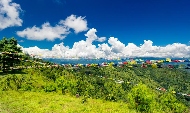 Valley of Kathmandu, Nepal during summer. On a beautiful sunny day stock images