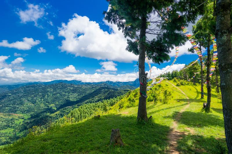 Valley of Kathmandu, Nepal during summer. On a beautiful sunny day stock image