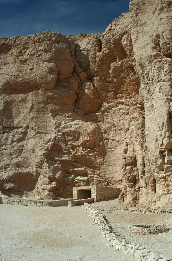 Valley of the Kings. A Tomb entrance in the Valley of the Kings, Luxor, Upper Egypt royalty free stock photo