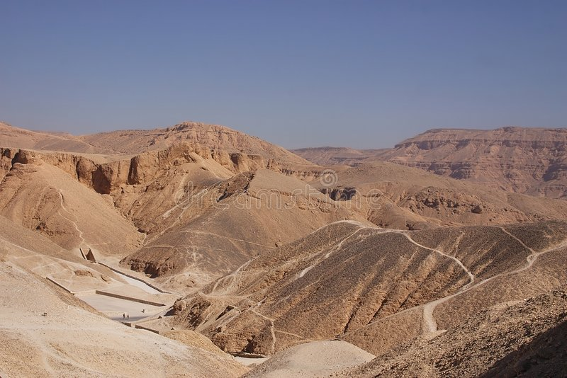 Valley of kings royalty free stock photography