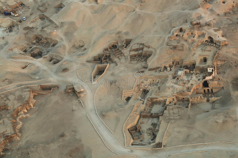 Valley of the Kings. An aerial view of the valley of the king. The Valley of the Kings is a valley in Egypt where, for a period of nearly 500 years from the 16th royalty free stock photo