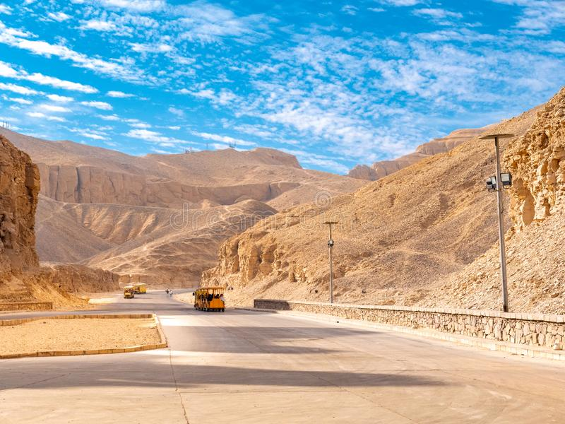 Valley of the Kings the burial place of Egyptian Pharaohs. Valley of the Kings is one of Egypt`s most traveled destination and one of the most important royalty free stock photos