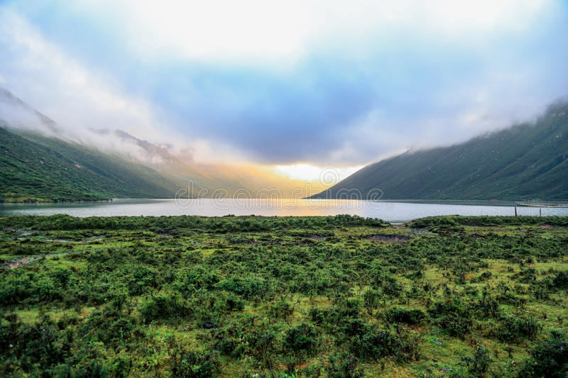 Valley lake royalty free stock images
