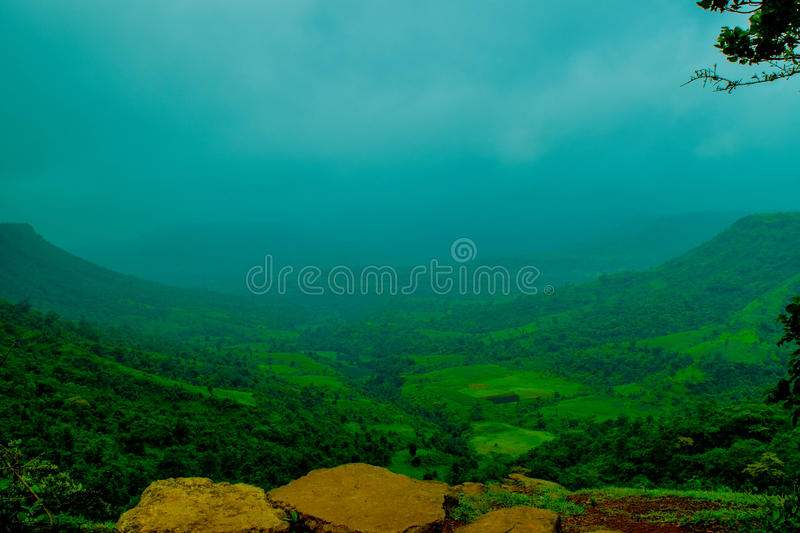 Valley of nature stock photo