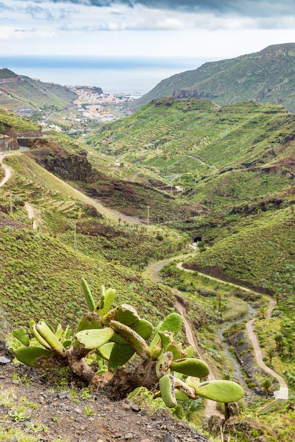 Valley near San Sebastian at La Gomera; Canary Islands. Valley near San Sebastian at La Gomera; Canary Islands, Spain stock images