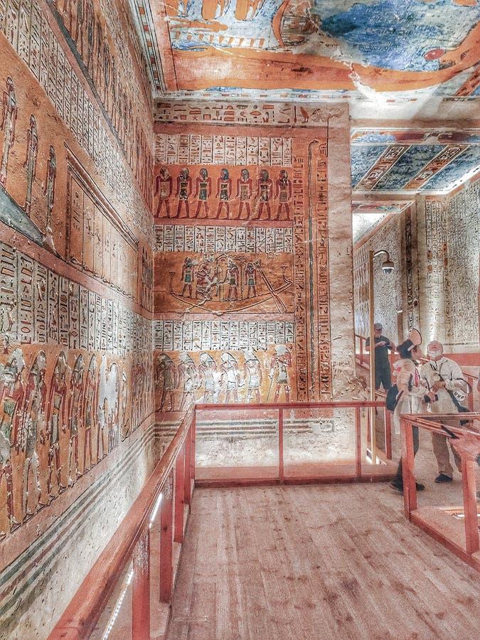 Valley på kung Tomb royaltyfri fotografi