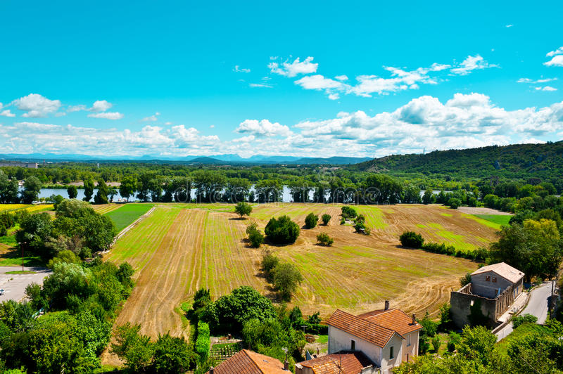 Valley of the Rhone stock photo