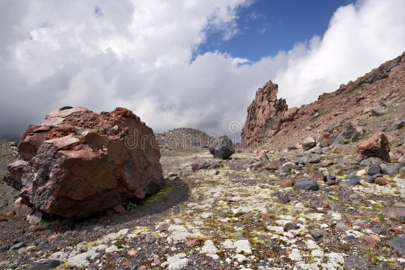 Download Valley With Rock And Moss In Caucasus Mountains Stock Image - Image: 12887369