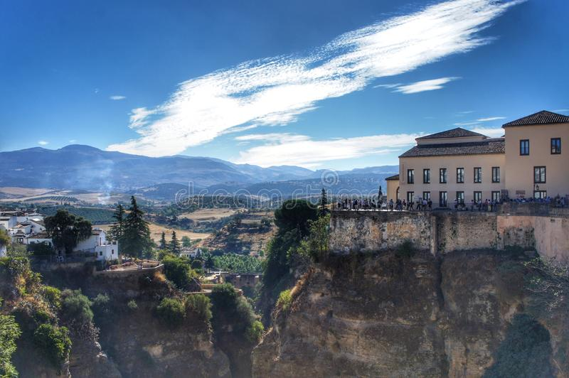 The valley in Ronda, Spain royalty free stock photos