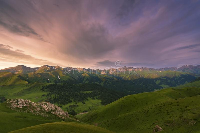 The valley of silence in the morning stock images
