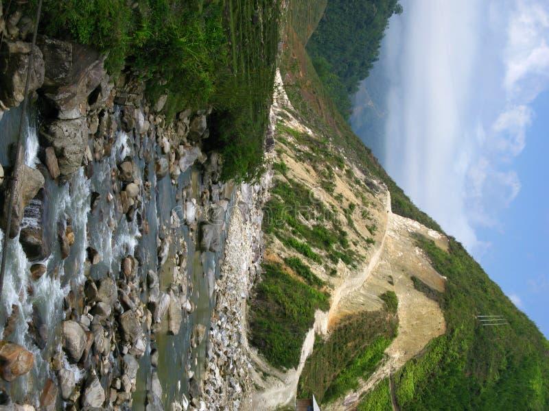 Valley Stream through Sapa royalty free stock photo