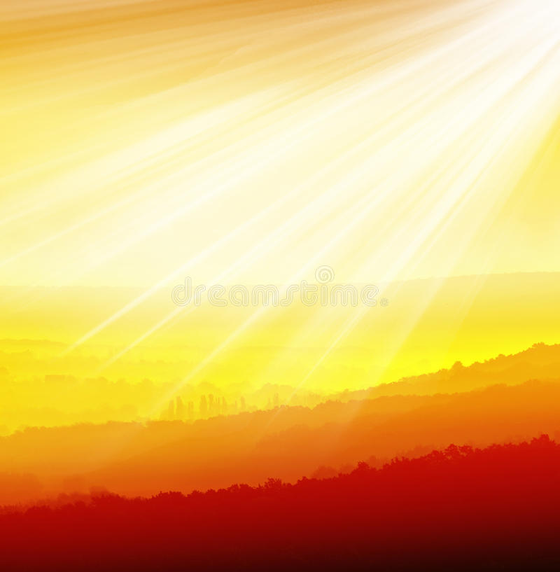 Download Valley in the sun stock image. Image of house, peak, rock - 21680209