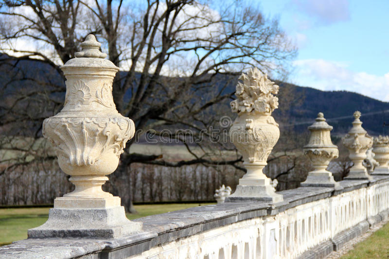 Valley of vases in the mountain stock photography