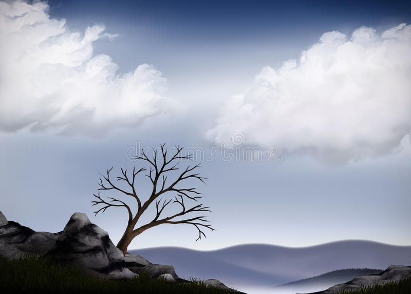 Download Valley View stock illustration. Illustration of scenery - 14132904