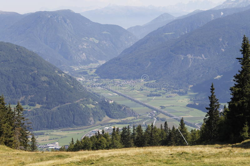 Download Valley stock image. Image of trentino, aerial, mountains - 83712887