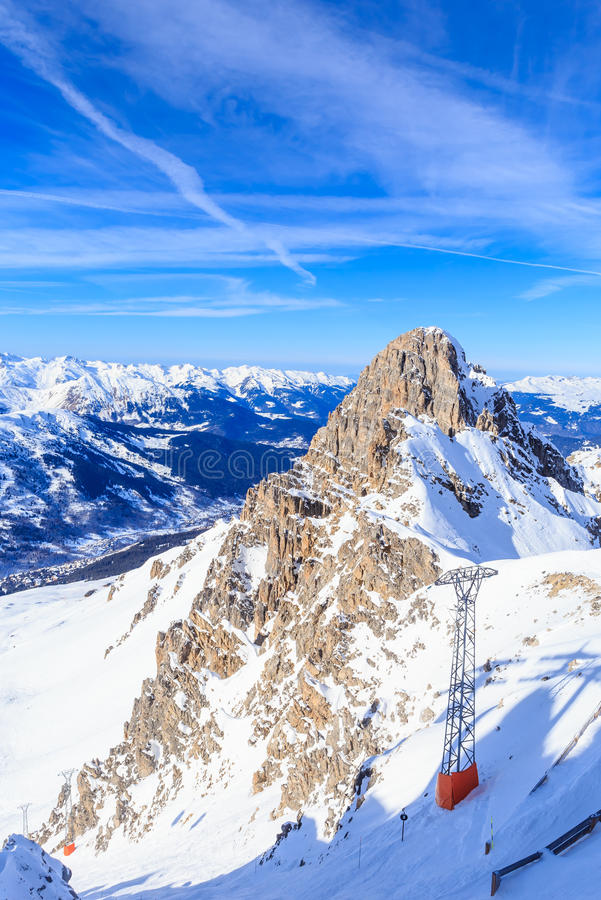 Valley View Of Meribel Ski Resort Meribel Stock Image Image of
