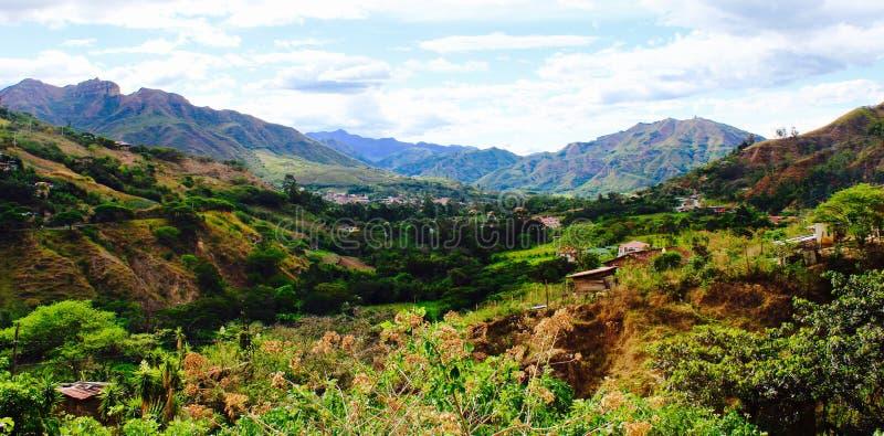 Valley of Vilcabamba stock image