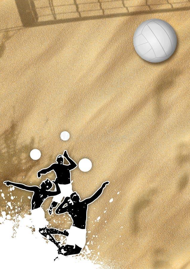 Valleyball Hintergrund lizenzfreie abbildung