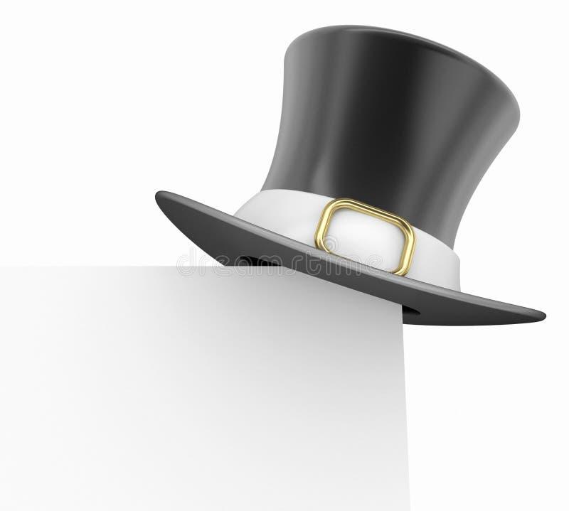 Vallfärda hatten stock illustrationer