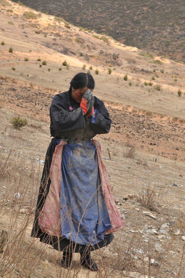 vallfärda tibetant arkivbilder